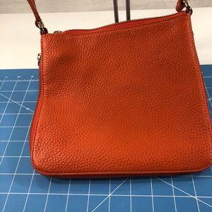 Cole Haan Orange Leather Crossbody Bag.